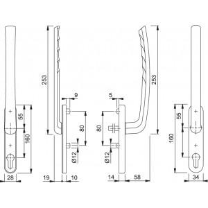 Coppia Maniglioni Per Alzante Scorrevole - Tokyo - HS-575KH/432/431/571