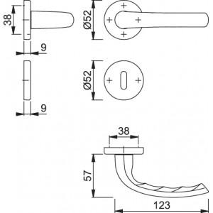 Maniglia Per Porta - Hoppe - Tokyo - M1710RH/42K/42KS