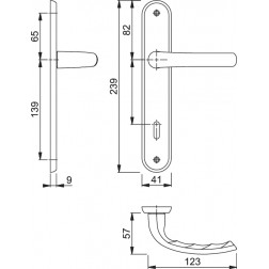 Maniglia Per Porta su placca - Hoppe - Tokyo  - M1710RH/265