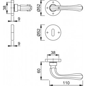 Maniglia Per Porta -  Hoppe - Valencia - M170/42K/42KS
