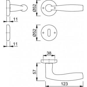 Door Handle -  Hoppe - Vitoria - M1515/23K/23KS