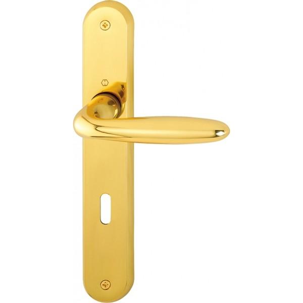 Door handle on plate -  Hoppe - Verona - M151/265