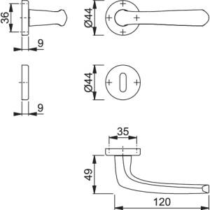 Maniglia Per Porta - Hoppe - Buenos Aires - M1840/88K/88KS