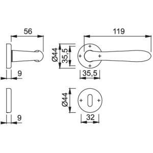 Maniglia Per Porta - Hoppe - Santiago - M1740/88K/88KS