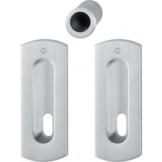 Hoppe - Flush Pull Handle With Keyhole - Rectangular Set M463
