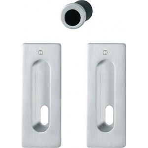 Hoppe - Maniglia Per Porta Scorrevole Foro Chiave - Kit Rettangolare M464