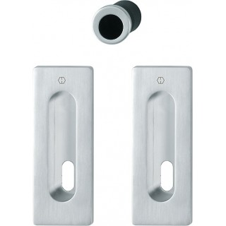 Hoppe - Flush Pull Handle With Keyhole - Rectangular Set M464