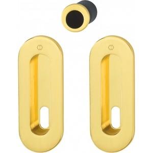 Hoppe - Flush Pull Handle With Keyhole - Oval Set M472