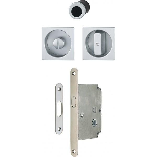 HOPPE -  Maniglia Per Porta Scorrevole Quadrata con Serratura - 4921