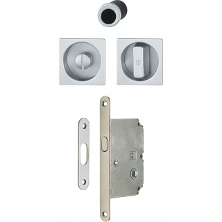 Hoppe - Sliding Door Handle - Square Set Witk Lock 4921