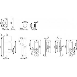 Maniglia ad Incasso Per Porta Scorrevole - Hoppe - Kit Ovale 4930
