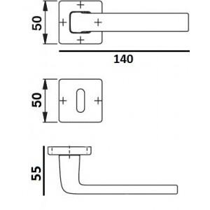 ZB Maniglie -Maniglia Per Porta - Quadrata - Produzione Italiana
