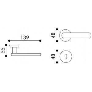 Door Handle -  Apro - Quadra