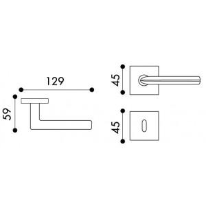 Arieni - Maniglia Per Porta - Serie Pegaso 7091/R