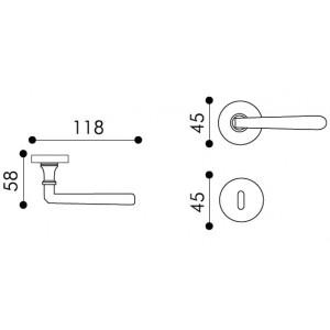 Door Handle -  Apro - Sagitta - Made In Italy