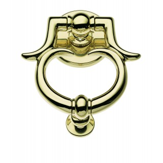 Door Knocker - Apro - Ottoniano - Made In Italy