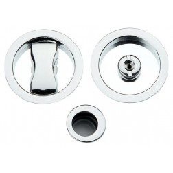 Sliding Door Handle -  Apro - Round Set K001 - Made in Italy