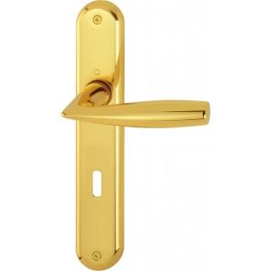 Hoppe - Maniglia per porta con placca  - Modello Vitoria - cod. M1515/379