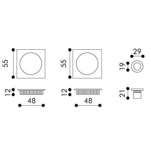 Sliding Door Handle -  Apro - Square Set K002Q