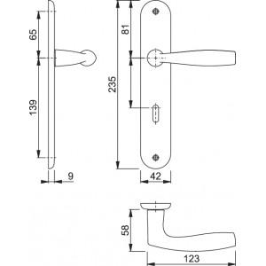 Door handle on plate -  Hoppe - Vitoria - M1515/379