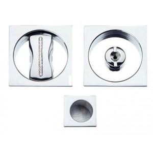 Maniglia ad Incasso Per Porta Scorrevole - Apro - Kit Quadrato K001Q- SW Cristallo - Produzione Italiana