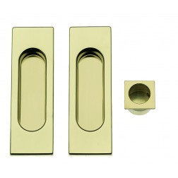 Sliding Door Handle -  Apro - Rectangular Set K002Q - Made in Italy