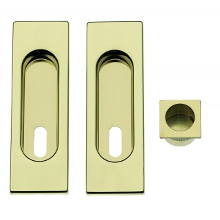 Sliding Door Handle -  Apro - Rectangular Set K003Q - Made in Italy