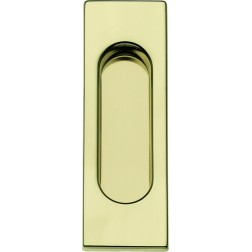 Single Sliding Door Handle -  Apro - Rectangular Set KS01R - Made in Italy
