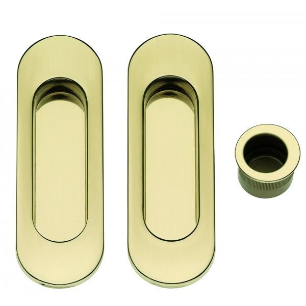 Maniglia ad Incasso Per Porta Scorrevole - Apro - Kit Ovale K002-O - Produzione Italiana