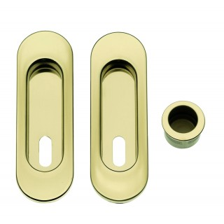 Sliding Door Handle -  Apro - Oval Set K003-O - Made in Italy