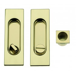 Sliding Door Handle -  Apro - Rectangular Set K001R - Made in Italy