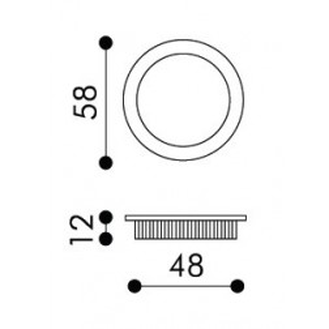 Maniglia Singola ad Incasso Per Porta Scorrevole - Apro - Tonda KS01
