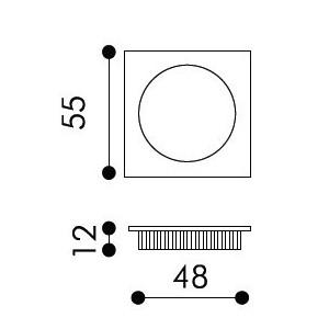Maniglia Singola ad Incasso Per Porta Scorrevole - Apro - Quadrato KS01-Q