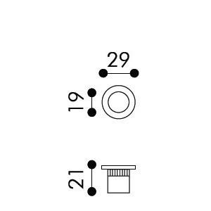 Ditale di trascinamento ad Incasso Per Porta Scorrevole - Apro - Tondo D01