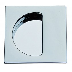 Single Sliding Door Handle -  Apro - Square Set KS01-QML  - Made in Italy