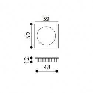 Maniglia Singola ad Incasso Per Porta Scorrevole - Apro - Quadrata KS01-QML