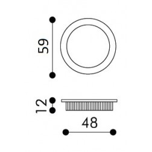 Maniglia Singola ad Incasso Per Porta Scorrevole - Apro - Tonda KS01-OP