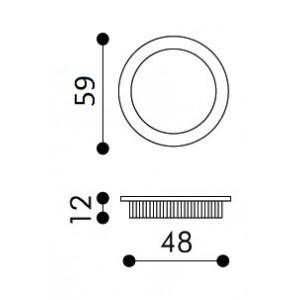 Single Sliding Door Handle -  Apro - Round Set KS01-OP