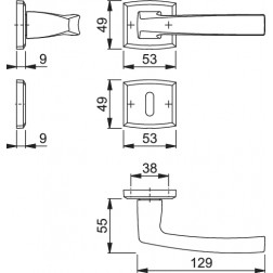 Maniglia Per Porta -  Hoppe - Acapulco - M1558/18K/18KS
