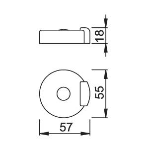 Doorstop For Entrance Door - Hoppe - E484