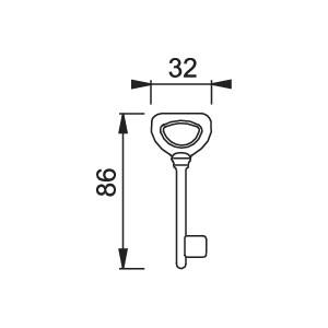 Chiave Per Porta - Hoppe - M448