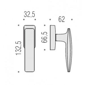 Maniglia Per Finestra -  Colombo Design - Martellina Dk Blazer - FL12 DK/SM