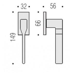 Maniglia Per Finestra -  Colombo Design - Martellina Dk Daytona - PF12-DK