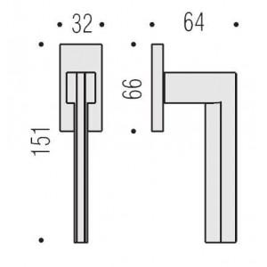 Maniglia Per Finestra - Colombo Design - Martellina Dk Electra - MS12-DK