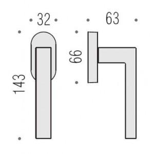 Maniglia Per Finestra - Colombo Design - Martellina Dk Elle - BD12-DK