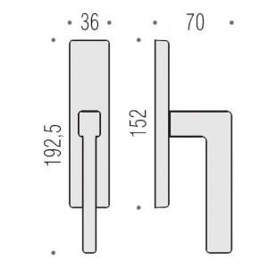 Window Handle on plate - Colombo Design - Esprit BT12-IM