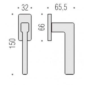 Maniglia Per Finestra - Colombo Design - Martellina Dk Ellesse - BD22-DK