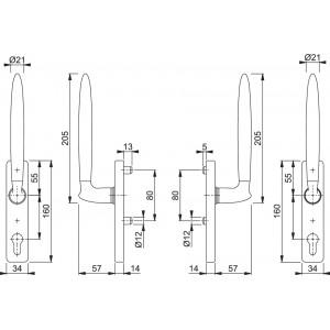 Maniglia Per Alzante Scorrevole - Athinai - HS-M5172/419/423