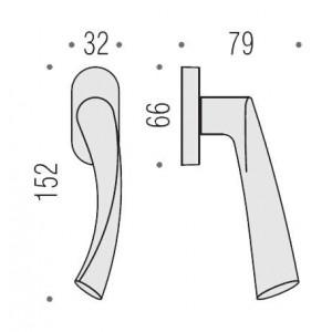 Maniglia Per Finestra - Colombo Design - Martellina Dk Fedra - AC12-DK