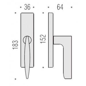 Cremonese Per Finestra - Colombo Design - Flessa CB52-M